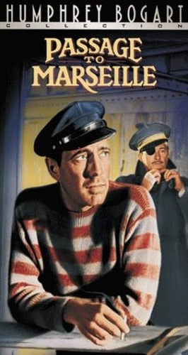 Humphrey Bogart and Claude Rains in Passage to Marseille (1944)