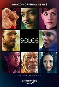 Morgan Freeman, Helen Mirren, Anne Hathaway, Anthony Mackie, Dan Stevens, Constance Wu, Uzo Aduba, and Nicole Beharie in Solos (2021)