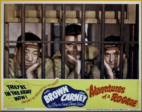Wally Brown, Alan Carney, and Richard Martin in The Adventures of a Rookie (1943)