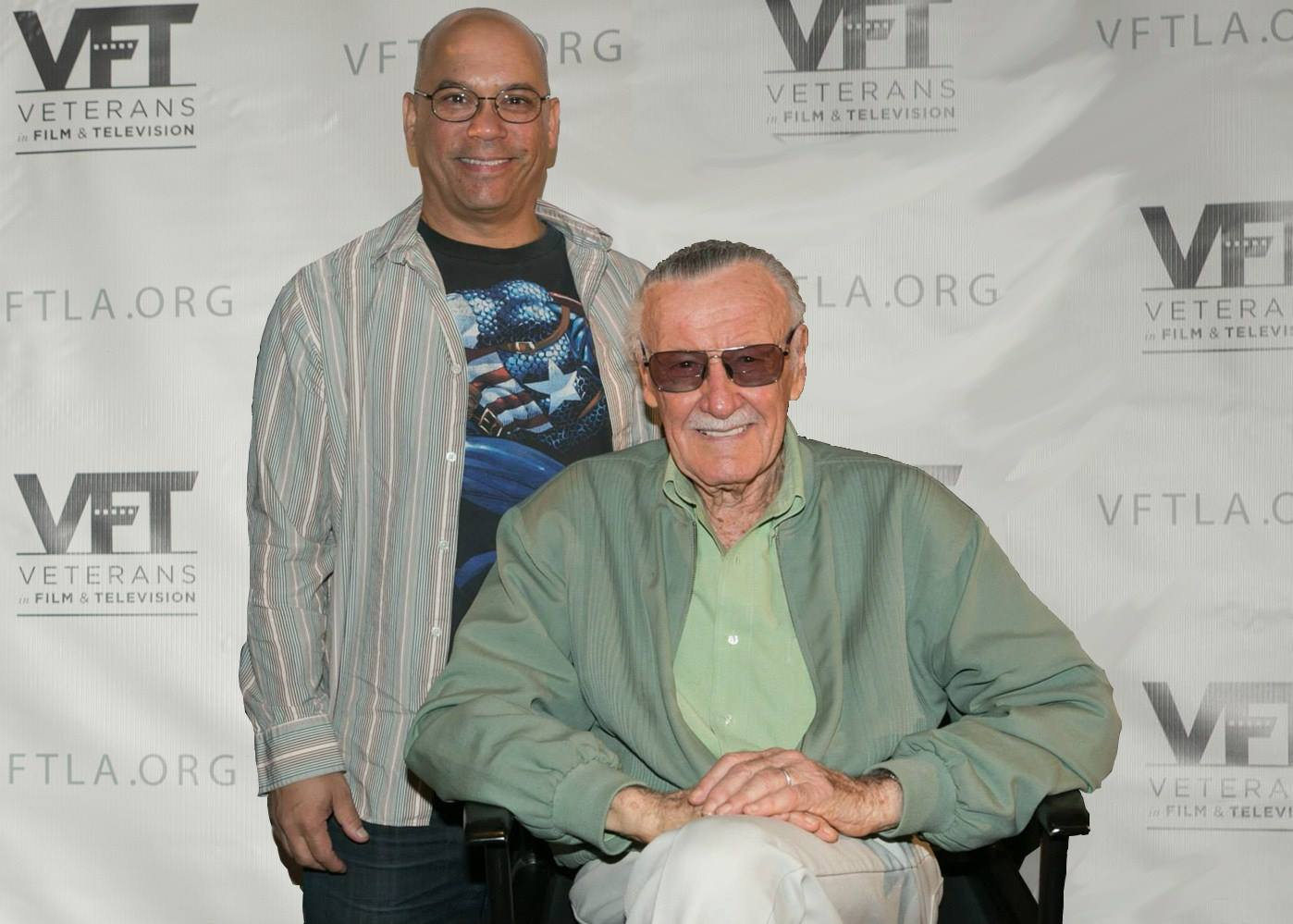 With Stan Lee at a meeting of Veterans in Film and Television