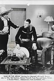 Steve Clemente, Ken Maynard, John St. Polis, and Michael Visaroff in King of the Arena (1933)