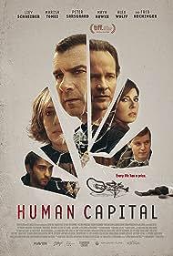 Liev Schreiber, Marisa Tomei, Peter Sarsgaard, Maya Hawke, and Alex Wolff in Human Capital (2019)