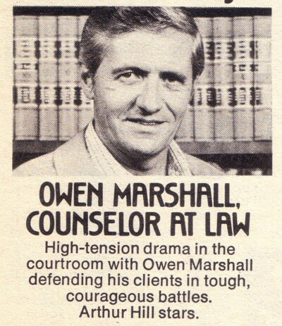 Arthur Hill in Owen Marshall, Counselor at Law (1971)