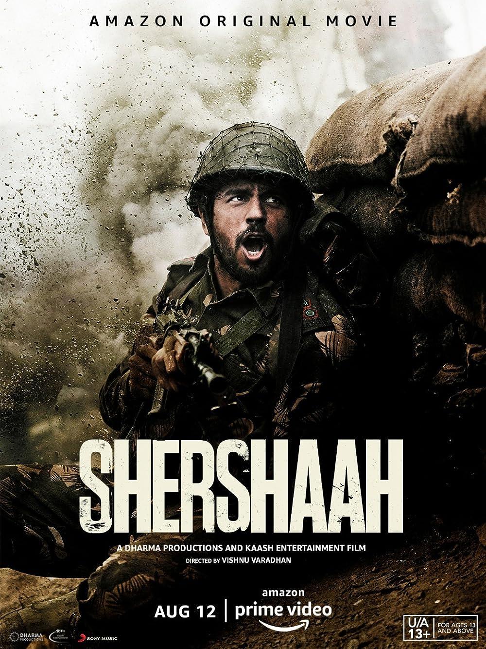 Shershaah 2021 Hindi Movie 720p AMZN HDRip ESub 1.2GB x264 AAC