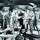 John Wayne, George Sanders, Robert Barrat, Stanley Blystone, Ethan Laidlaw, and Claire Trevor in Allegheny Uprising (1939)