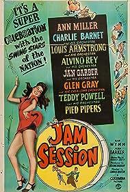 Louis Armstrong, Charlie Barnet, Glen Gray, Ann Miller, and Alvino Rey in Jam Session (1944)