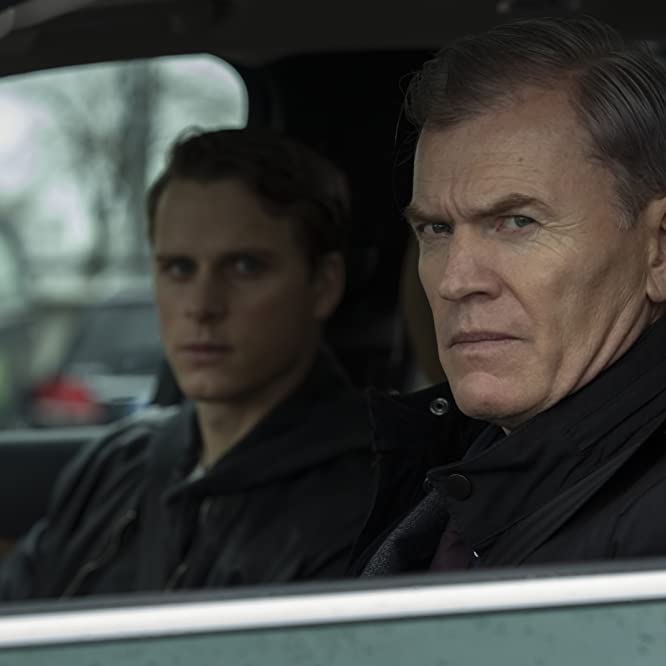 Richard Dillane and Adam Pålsson in Young Wallander (2020)
