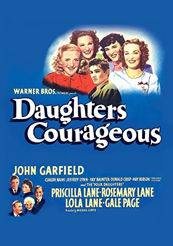 Claude Rains, John Garfield, Fay Bainter, Lola Lane, Priscilla Lane, Rosemary Lane, Jeffrey Lynn, Gale Page, and May Robson in Daughters Courageous (1939)
