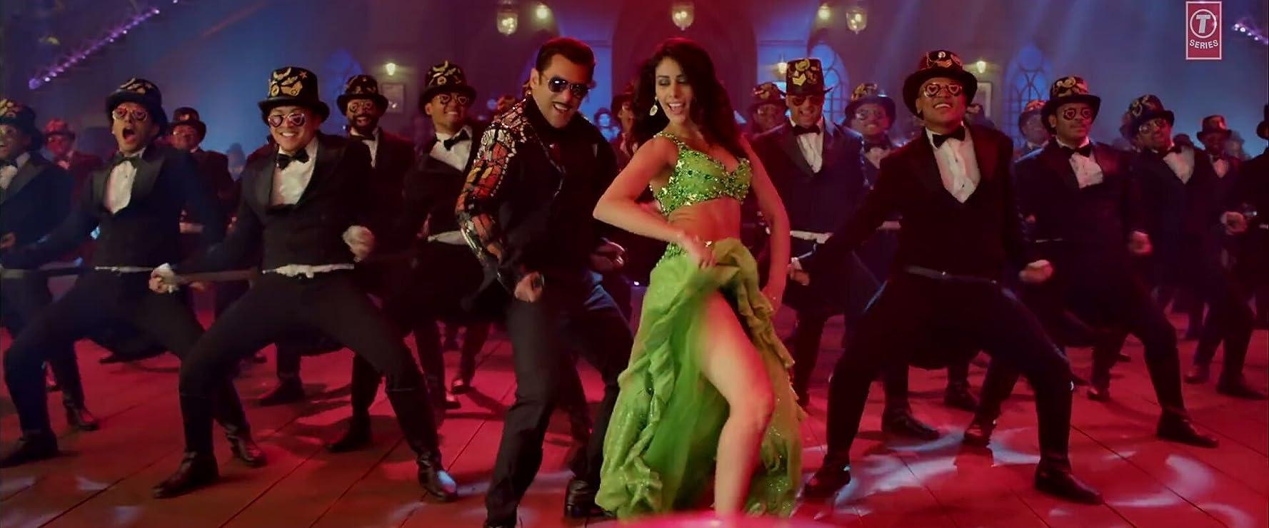 Salman Khan, Prabhu Deva, and Warina Hussain in Badshah & Kamaal Khan & Mamta Sharma: Munna Badnaam Hua (2019)