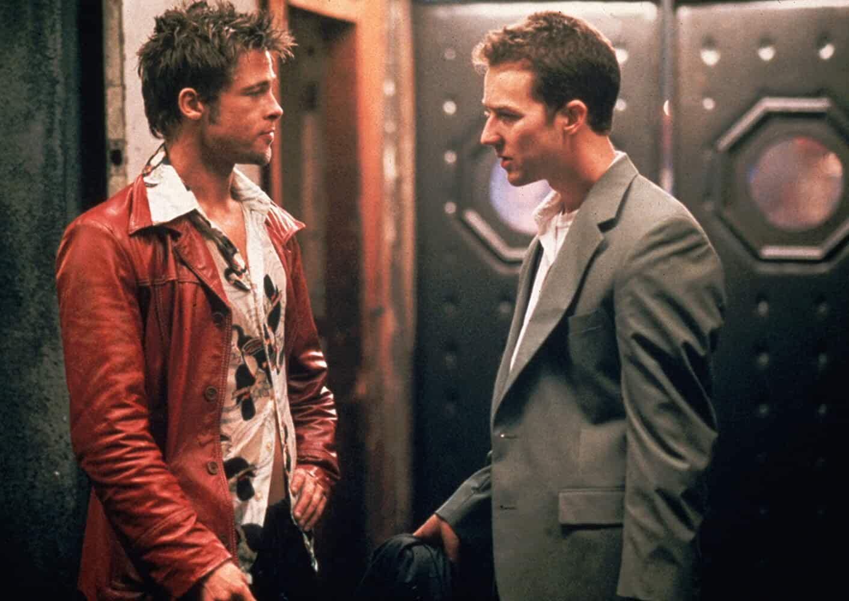 Brad Pitt and Edward Norton in Fight Club (1999)
