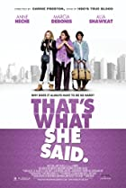 That's What She Said (2012) Poster