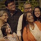 Raima Sen, Saswata Chatterjee, Ritwick Chakraborty, and Ardhendu Banerjee in Tarikh (2018)
