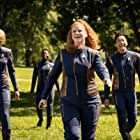Emily Coutts, Patrick Kwok-Choon, Sara Mitich, Mary Wiseman, and Oyin Oladejo in People of Earth (2020)
