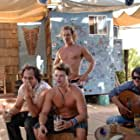 Matthew McConaughey, Zachary Knighton, Nathan Phillips, and Todd Stashwick in Surfer, Dude (2008)