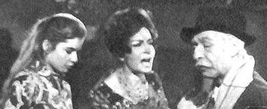 Narciso Ibáñez Menta, Inda Ledesma, and María de los Ángeles Medrano in Alta comedia (1965)