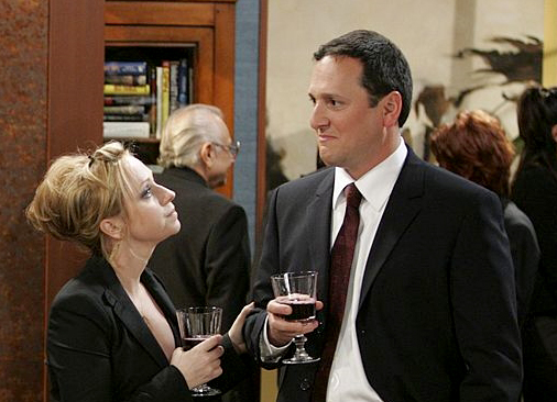 Leigh-Allyn Baker and Tom Gallop in Will & Grace (1998)