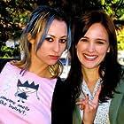 Erica (Jillian Schmitz) and Angie (Sarah Thompson)on campus.