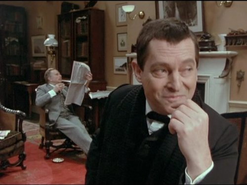 Jeremy Brett and Edward Hardwicke in The Return of Sherlock Holmes (1986)