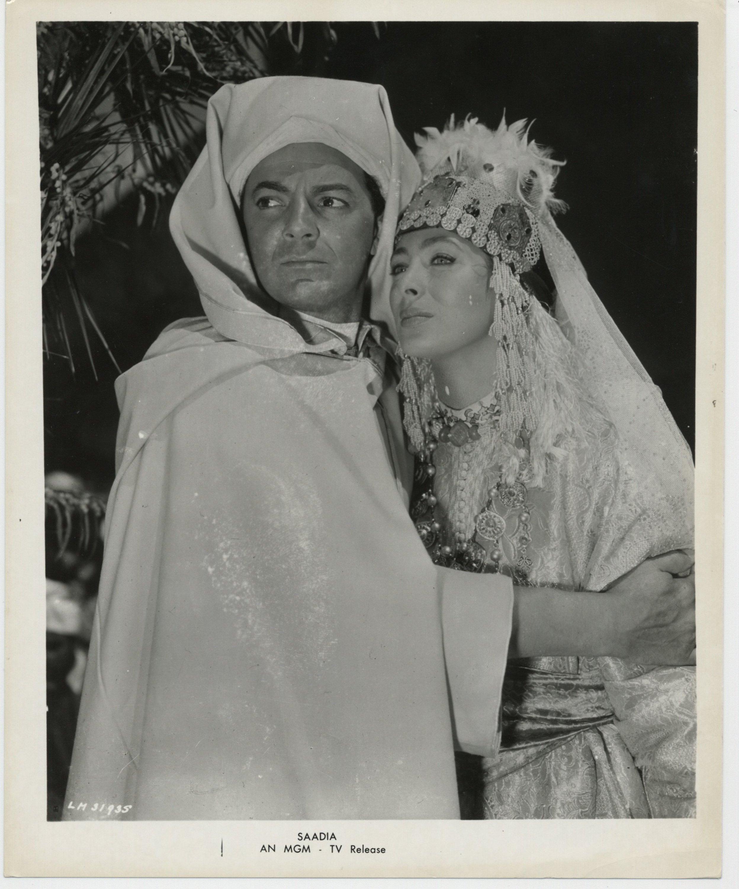 Rita Gam and Cornel Wilde in Saadia (1953)
