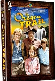 Rod Taylor, Andrew Stevens, Tony Becker, and Gina Smika Hunter in The Oregon Trail (1976)