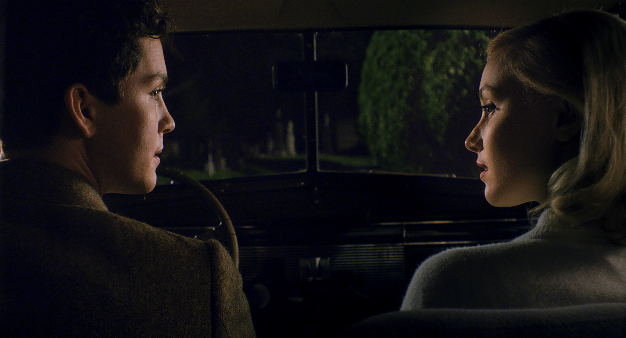 Sarah Gadon and Logan Lerman in Indignation (2016)