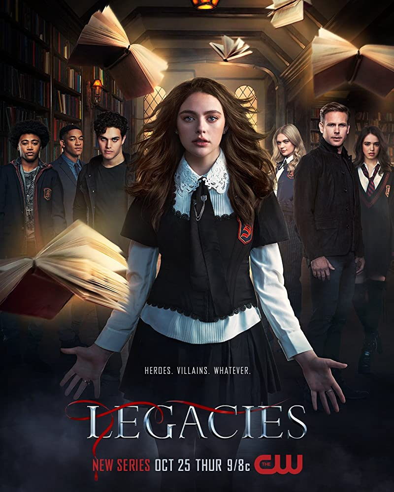 Matthew Davis, Peyton 'Alex' Smith, Kaylee Bryant, Danielle Rose Russell, Jenny Boyd, Aria Shahghasemi, and Quincy Fouse in Legacies (2018)