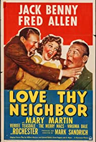 Jack Benny, Fred Allen, and Mary Martin in Love Thy Neighbor (1940)