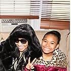 Ariana with Nicki Minaj on the set of 'Nicki'