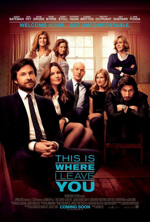 Jane Fonda, Jason Bateman, Connie Britton, Rose Byrne, Tina Fey, Corey Stoll, Kathryn Hahn, and Adam Driver in This Is Where I Leave You (2014)