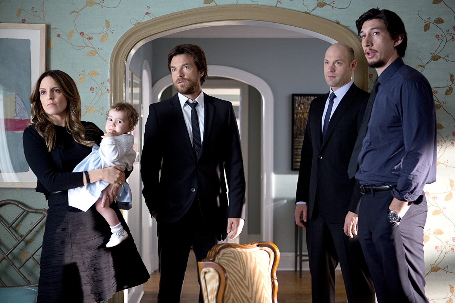 Jason Bateman, Tina Fey, Corey Stoll, and Adam Driver in This Is Where I Leave You (2014)