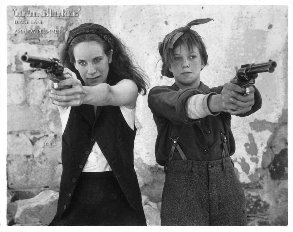 Diane Lane and Amanda Plummer in Cattle Annie and Little Britches (1981)