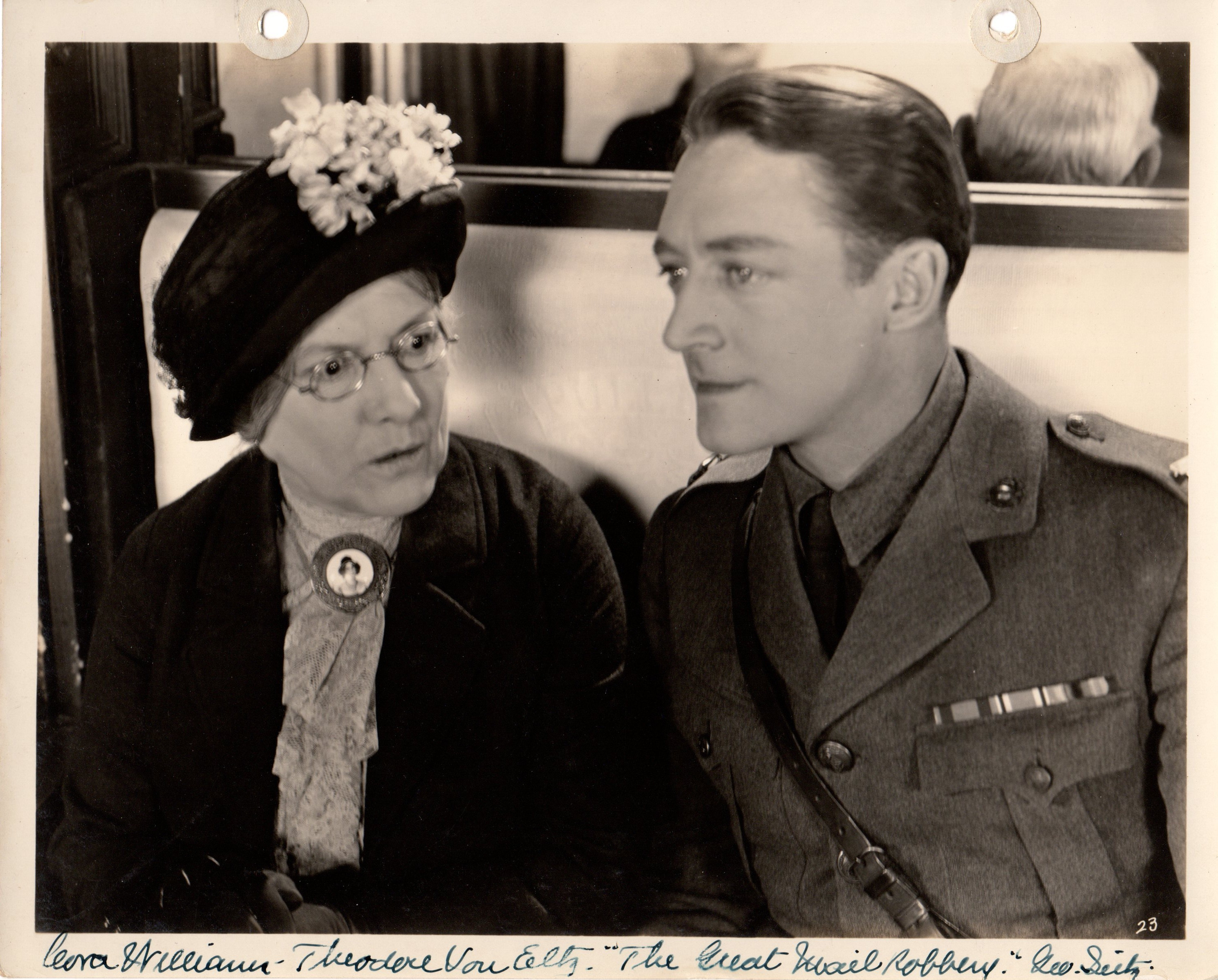 Theodore von Eltz and Cora Williams in The Great Mail Robbery (1927)
