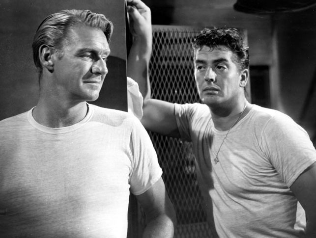 Victor Mature and Sonny Tufts in Easy Living (1949)
