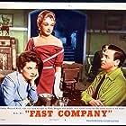 Polly Bergen, Nina Foch, and Howard Keel in Fast Company (1953)