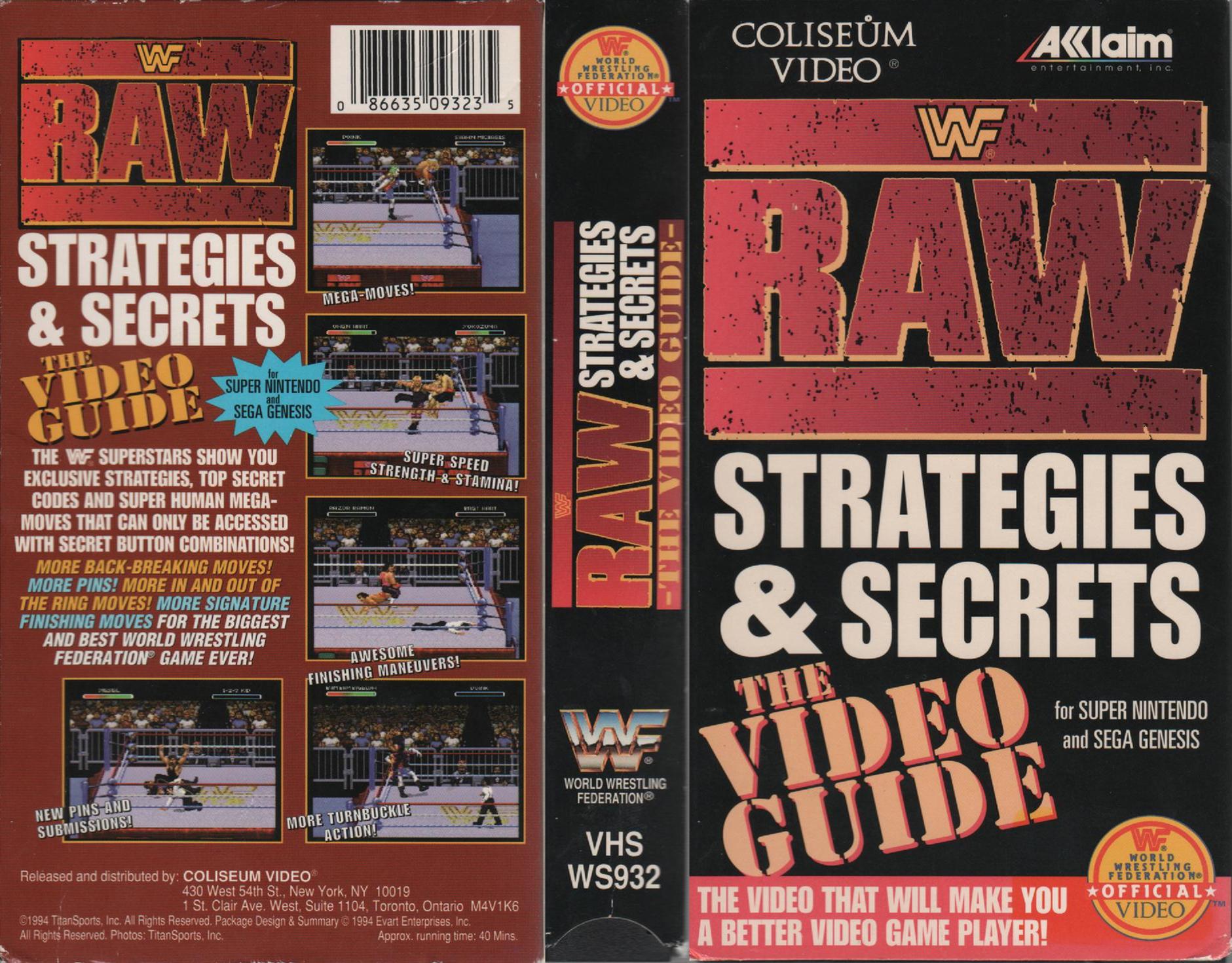 Wwf Raw Strategies And Secrets The Video Guide Video 1994 Imdb