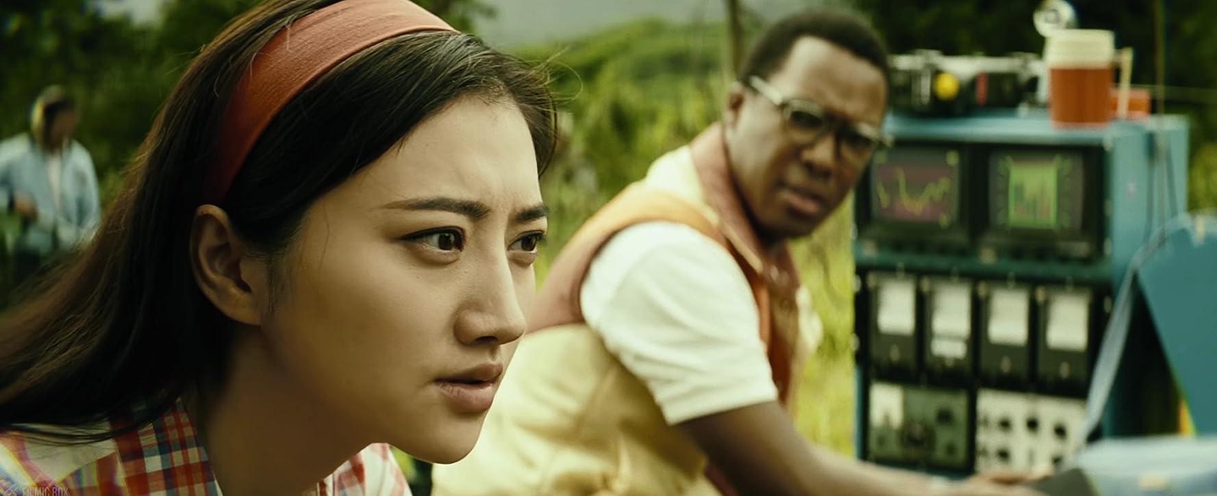 Tian Jing and Corey Hawkins in Kong: Skull Island (2017)