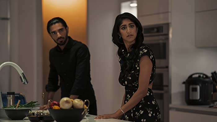 Sunita Mani and Omar Maskati in Evil Eye (2020)