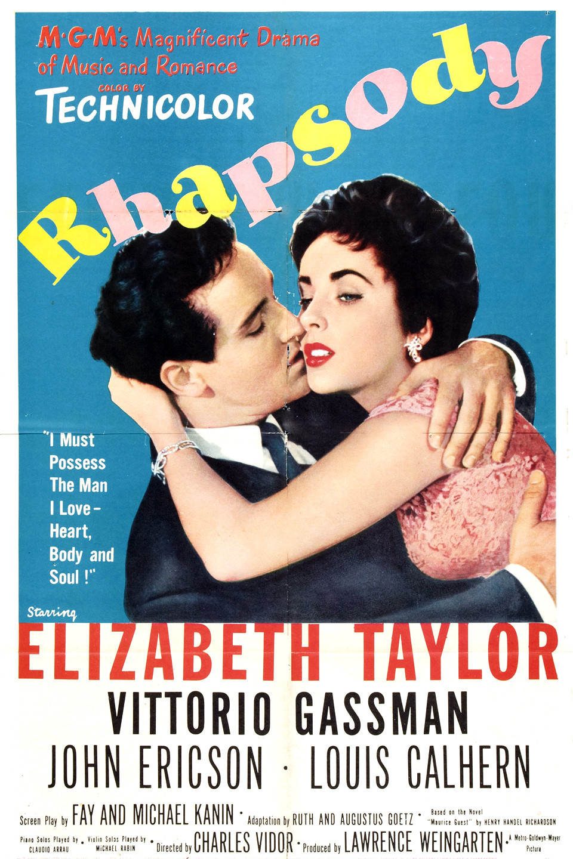 Elephant walk Elizabeth Taylor vintage movie poster #2