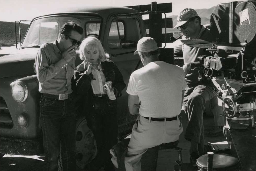 Marilyn Monroe, Montgomery Clift, and Arthur Miller in The Misfits (1961)