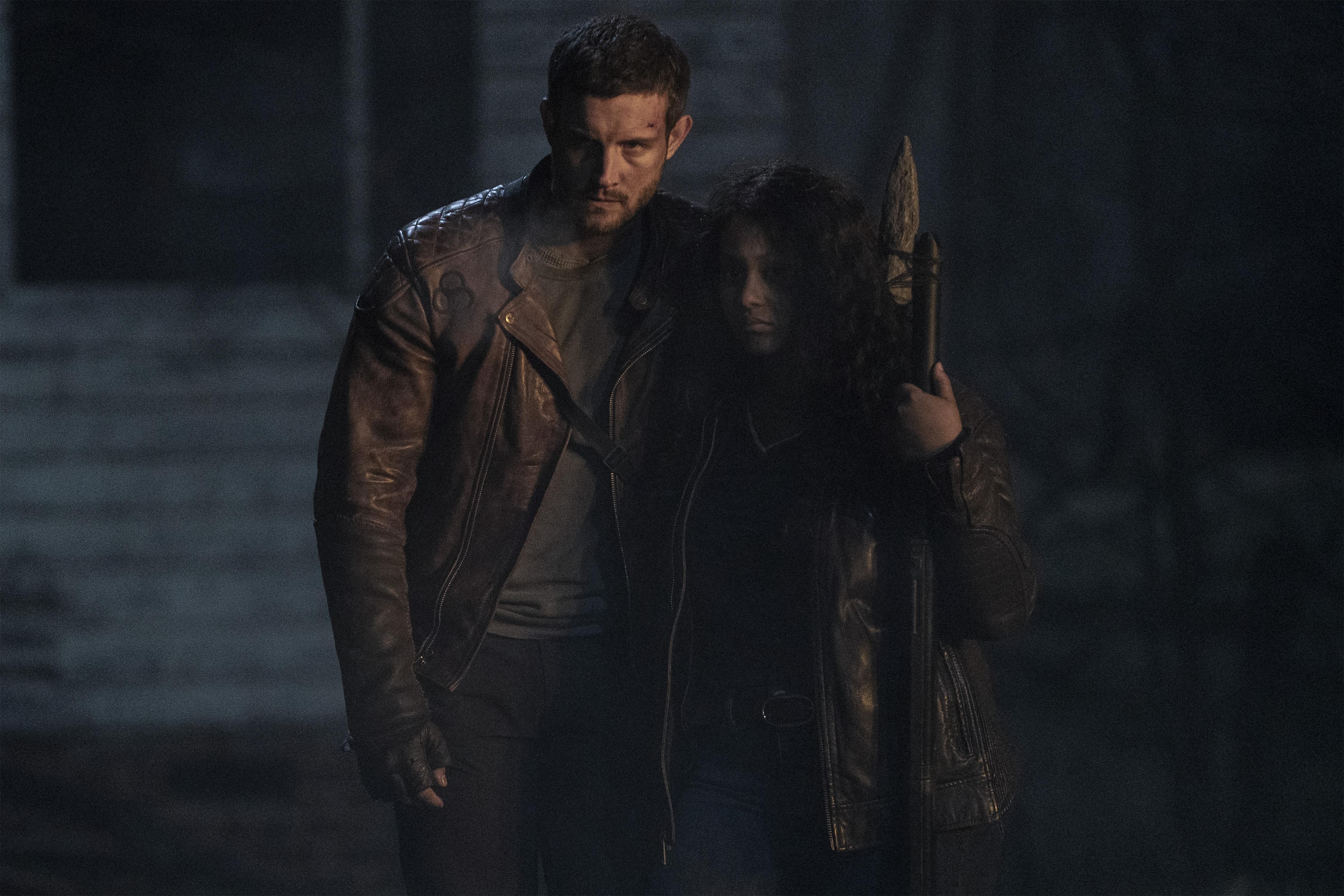 Nico Tortorella and Aliyah Royale in The Walking Dead: World Beyond (2020)
