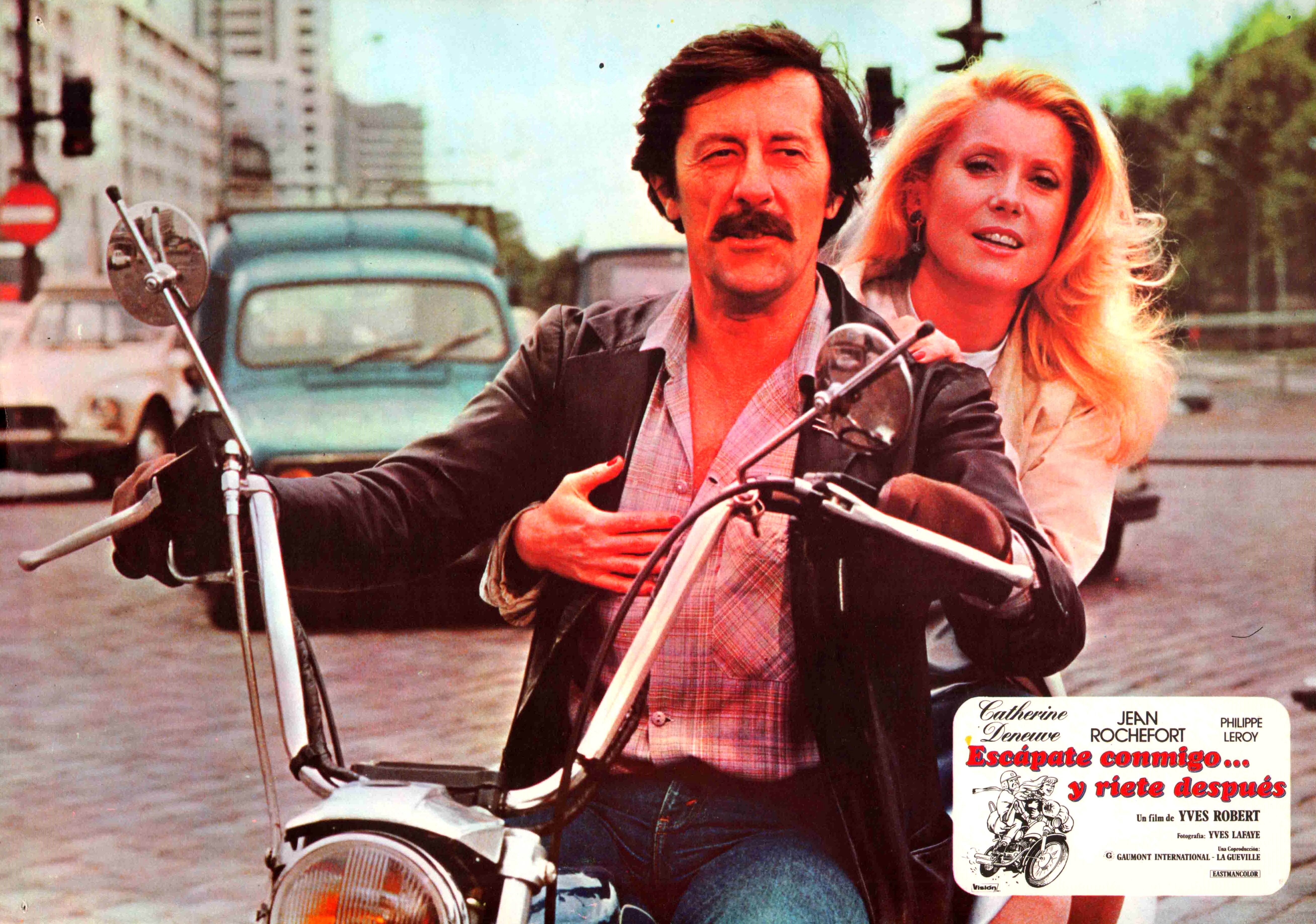 Catherine Deneuve and Jean Rochefort in Courage fuyons (1979)