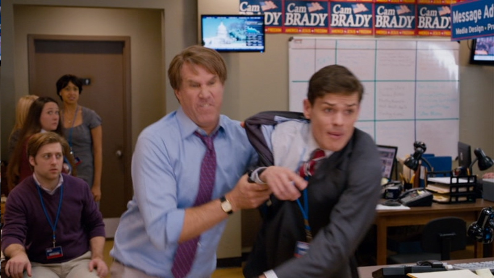 """Will Ferrell and Aaron Jay Rome in """"The Campaign"""""""