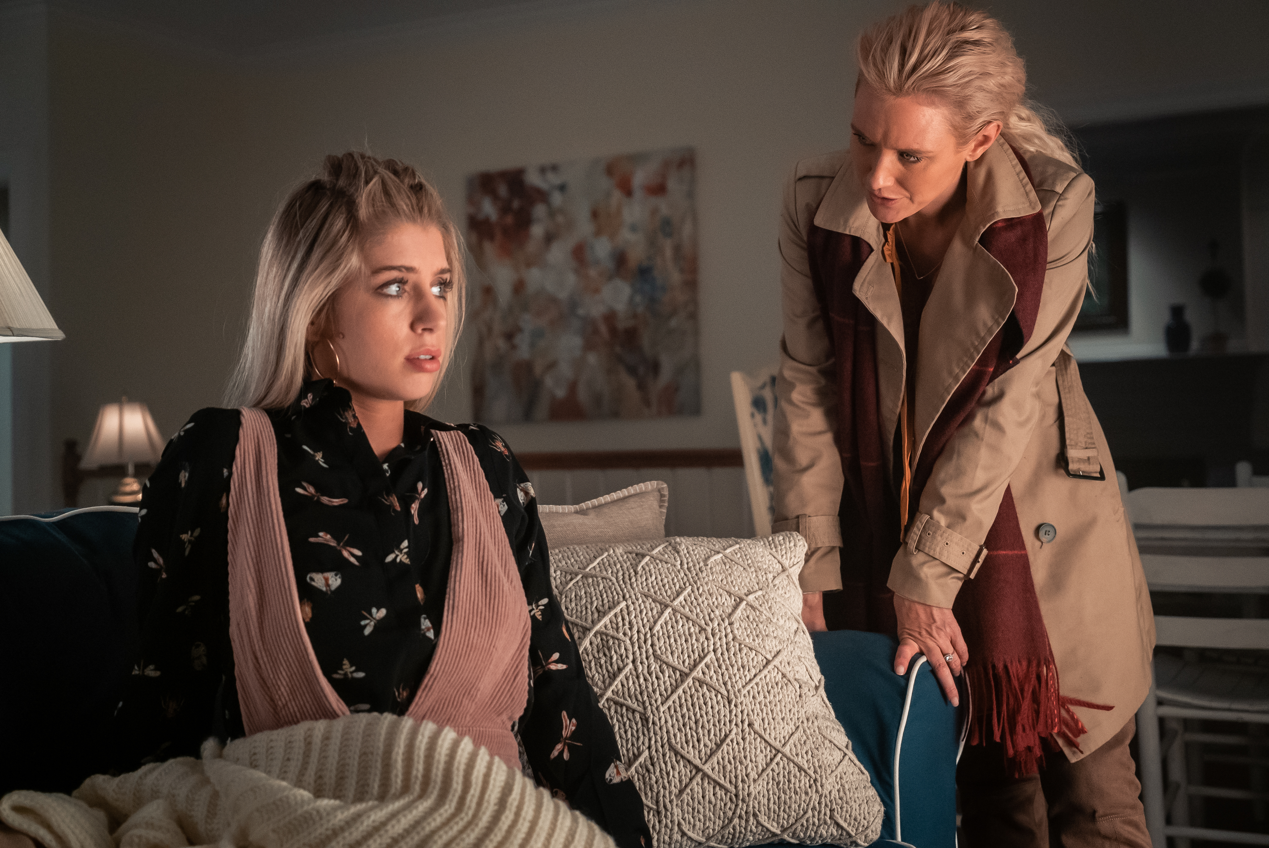 Alexandria DeBerry and Nicky Whelan in Secrets at the Lake (2019)