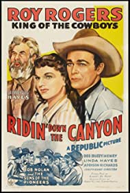 Roy Rogers, George 'Gabby' Hayes, and Linda Hayes in Ridin' Down the Canyon (1942)