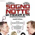 Gérard Depardieu, Daniel Auteuil, Sandrine Kiberlain, and Adriana Ugarte in Amoureux de ma femme (2018)