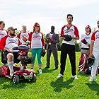 Zak Santiago, Yan-Kay Crystal Lowe, Garfield Wilson, Pete Graham, Jill Morrison, Lee Majdoub, and Corey Schmitt in Benchwarmers 2: Breaking Balls (2019)
