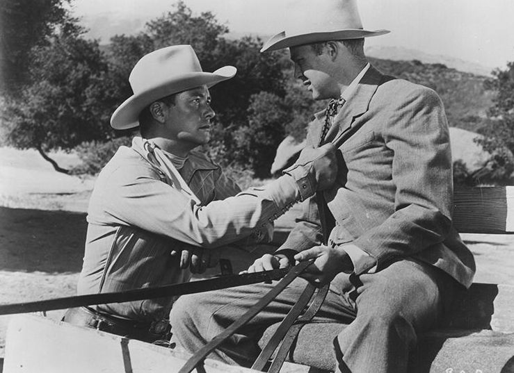 Tim Holt and Robert Sherwood in Trail Guide (1952)