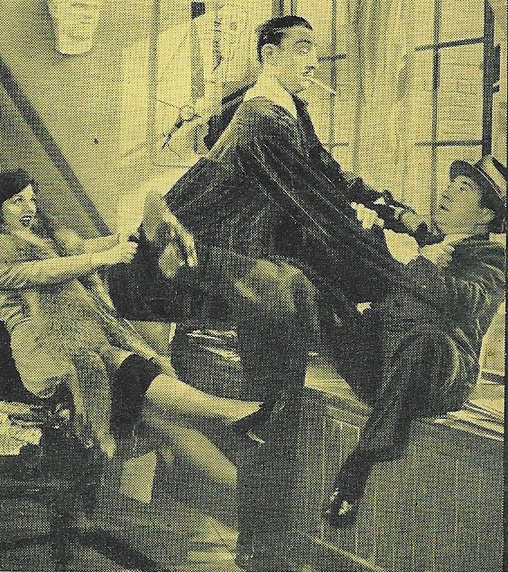 Mischa Auer, Carol Hughes, and Frank McHugh in Marry the Girl (1937)