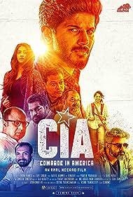 Siddique, John Vijay, Dileesh Pothan, Jinu Joseph, Dulquer Salmaan, Soubin Shahir, and Chandini Sreedharan in CIA: Comrade in America (2017)