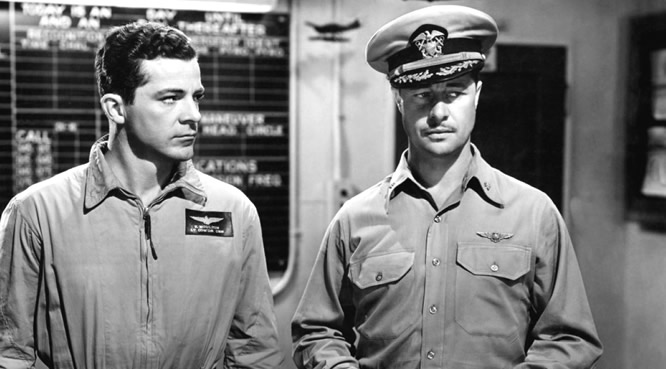 Don Ameche and Dana Andrews in Wing and a Prayer (1944)